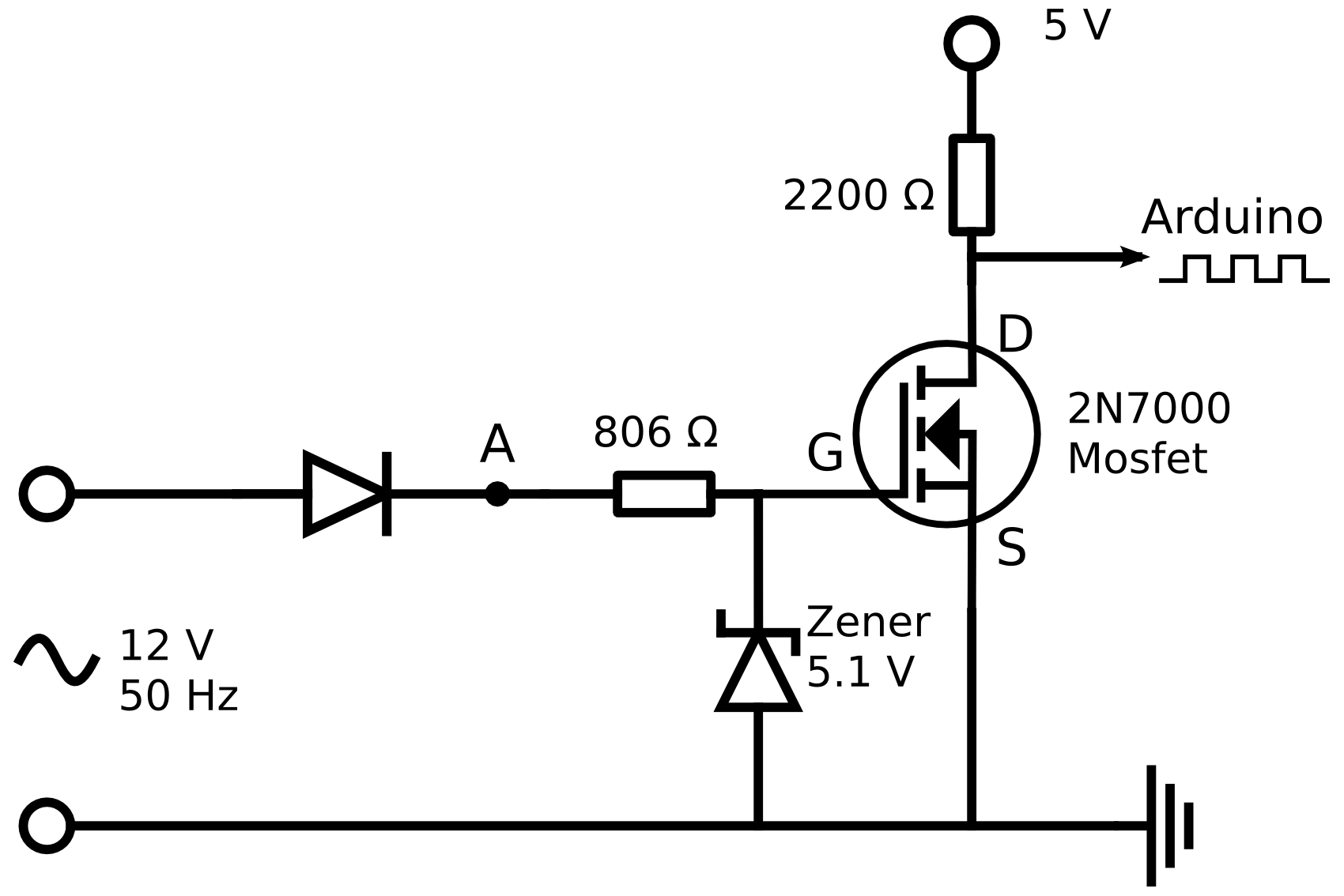imperfect rectification with a rectifier diode